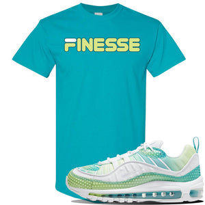 WMNS Air Max 98 Bubble Pack Sneaker Tropical Blue T Shirt | Tees to match Nike WMNS Air Max 98 Bubble Pack Shoes | Finesse