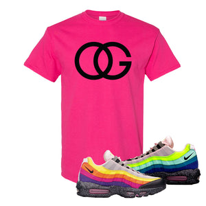 Airmax 95 '20 For 20' Sneaker Heliconia T Shirt | Tees to match Nike Airmax 95 '20 For 20' Shoes | OG