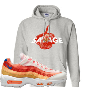 Air Max 95 Orange Snakeskin Hoodie | Savage Snake, Ash