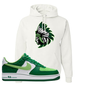 Air Force 1 Low St. Patrick's Day 2021 Hoodie | Indian Chief, White