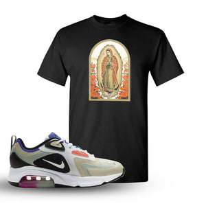 Air Max 200 WMNS Fossil Sneaker Black T Shirt | Tees to match Nike Air Max 200 WMNS Fossil Shoes | Virgin Mary