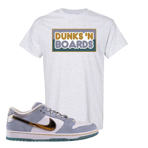 Sean Cliver x SB Dunk Low T Shirt | Dunks N Boards, Ash