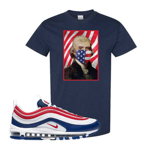 Air Max 97 USA T Shirt | Navy Blue, Thomas & Jefferson Mask