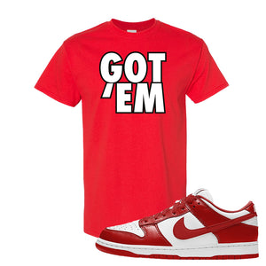 SB Dunk Low St. Johns T Shirt | Got Em, Red