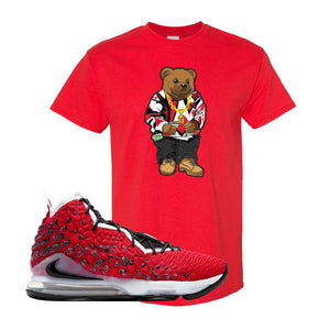 Lebron 17 Uptempo T Shirt | Red, Sweater Bear