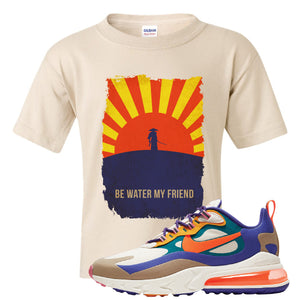 Air Max 270 React ACG Kid's T-Shirt | Sand, Be Water My Friend Samurai