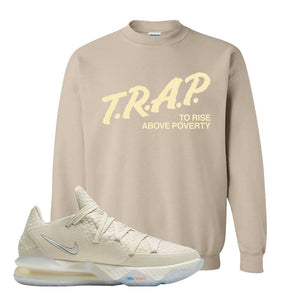 Lebron 17 Low Bone Crewneck Sweatshirt | Sand, Trap To Rise Above Poverty