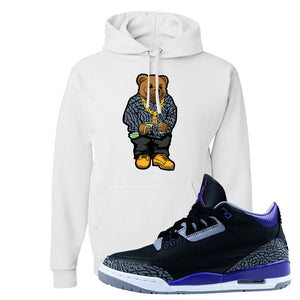 Air Jordan 3 Court Purple Hoodie | Sweater Bear, White