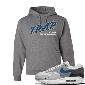 Air Max 1 'London City Pack' Sneaker Oxford Pullover Hoodie | Hoodie to match Nike Air Max 1 'London City Pack' Shoes | Trap to Rise Above Poverty