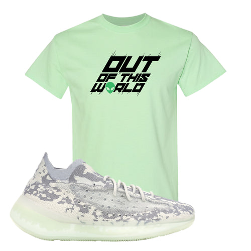 Yeezy Boost 380 Alien Outta This World Mint Green Sneaker Matching T-Shirt