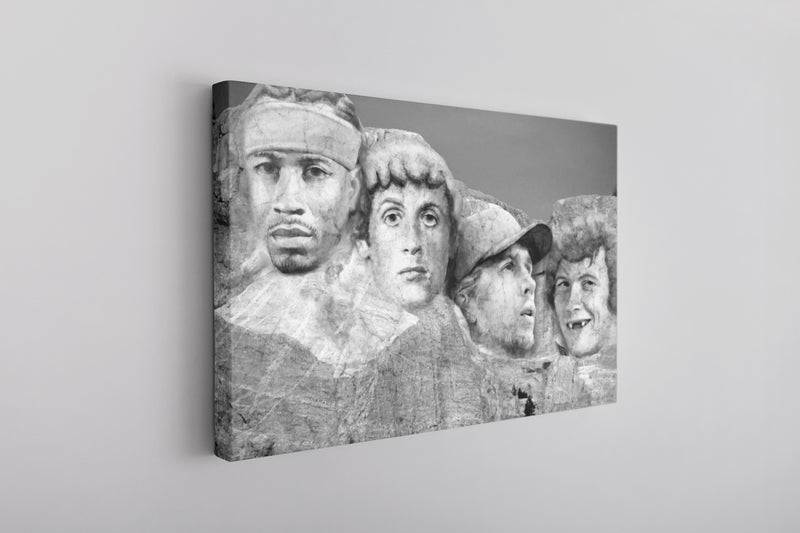 Philly Mount Rushmore Canvas | Philadelphia Legends Mount Rushmore Grey Wall Canvas