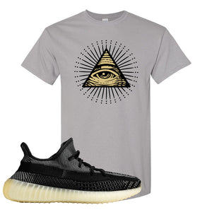 Yeezy Boost 350 v2 Carbon T Shirt | All Seeing Eye, Gravel