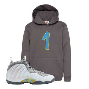 Lil Posite One Rainbow Pixel Kids Hoodie | Smoke Grey, Penny One