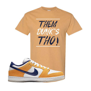 SB Dunk Low Laser Orange T Shirt | Old Gold, Them Dunks Tho