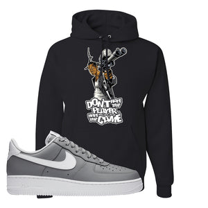 Air Force 1 Low Wolf Grey White Hoodie | Black, Don't Hate The Playa