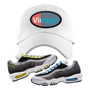 Air Max 95 QS Greedy Dad Hat | White, Vintage Oval