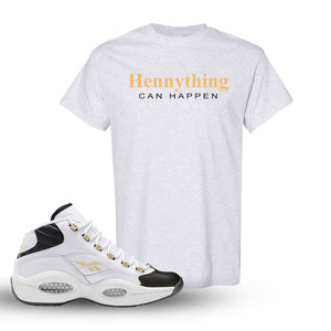 Reebok Question Mid Black Toe T Shirt | Ash, Hennything Can Happen