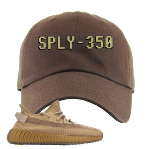 Yeezy Boost 350 V2 Earth Sneaker Dad Hat To Match | SPLY-350, Brown