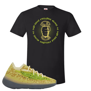 Yeezy Boost 380 Hylte Glow T Shirt | Cash Rules Everything Around Me, Black