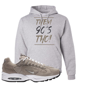 Air Max Triax 96 Grey Suede Hoodie | Them 90's Tho, Ash