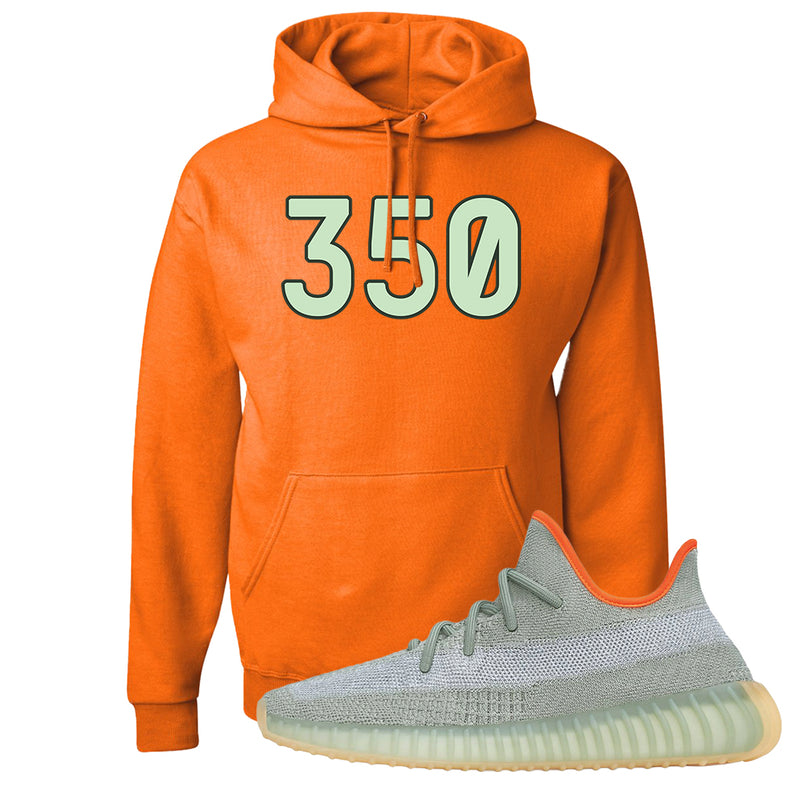Yeezy 350 V2 Desert Sage Hoodie | Safety Orange, 350