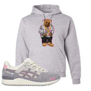 END x Asics Gel-Lyte III Grey And Pink Hoodie | Sweater Bear, Ash