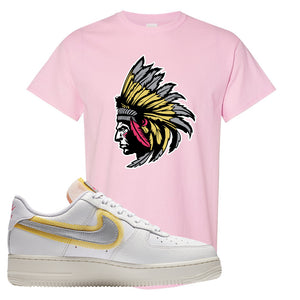 Air Force 1 Low 07 LX White Gold T Shirt | Indian Chief, Light Pink