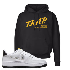 Air Force 1 Hoodie | Black, Trap To Rise Above Poverty
