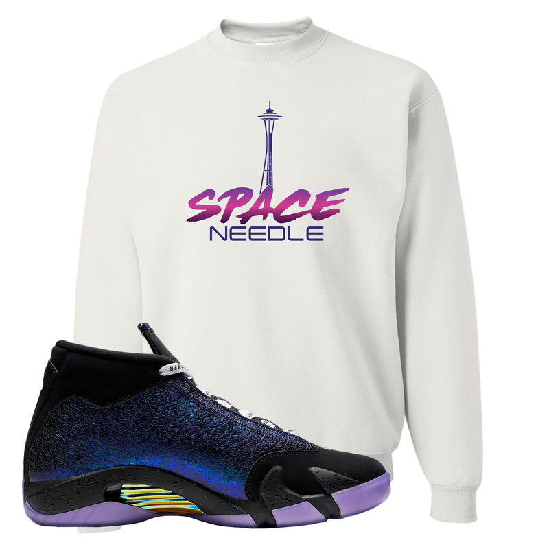 Jordan 14 Doernbecher Crewneck Sweatshirt | White, Space Needle