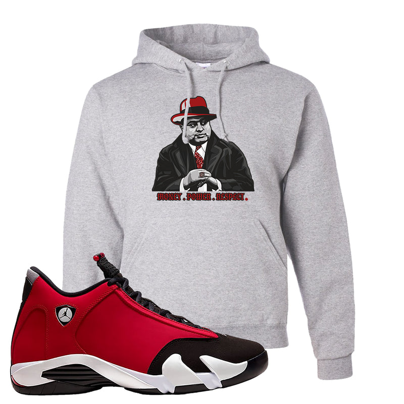 Air Jordan 14 Gym Red Hoodie | Ash, Capone Illustration