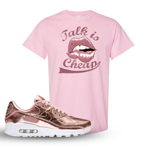 Air Max 90 WMNS 'Medal Pack' Rose Gold Sneaker Light Pink T Shirt | Tees to match Nike Air Max 90 WMNS 'Medal Pack' Rose Gold Shoes | Talk is Cheap