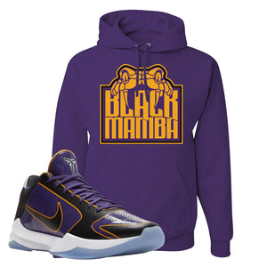 Kobe 5 Protro 5x Champ Hoodie | Black Mamba, Deep Purple