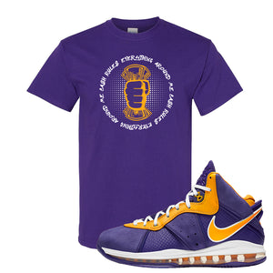 Lebron 8 Lakers T Shirt | Cash Rules Everything Around Me, Purple