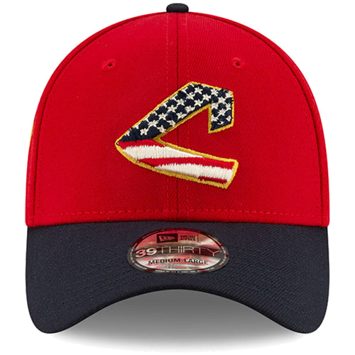 Cleveland Indians Stars and Stripes 2019 Fourth Of July On Field 39THIRTY Flexfit Cap
