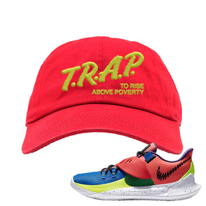 Kyrie Low 3 NY vs NY Dad Hat | Trap To Rise Above Poverty, Red