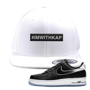 Colin Kaepernick X Air Force 1 Low Snapback Hat | White, I'm With Kap