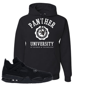 Air Jordan 4 Black Cat Panther University Black Made to Match Pullover Hoodie
