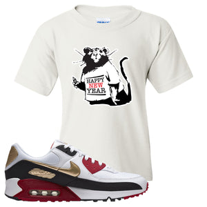 Air Max 90 Chinese New Year Kid's T Shirt | White, Happy New Year Rat