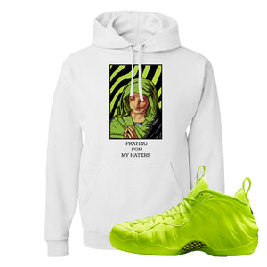 Air Foamposite Pro Volt Hoodie | God Told Me, White