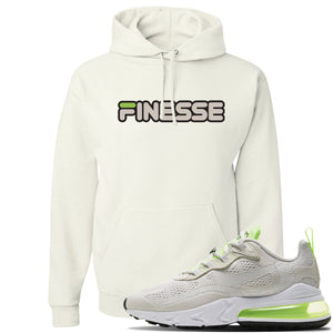 Air Max 270 React Ghost Green Sneaker White Pullover Hoodie | Hoodie to match Nike Air Max 270 React Ghost Green Shoes | Finesse