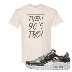 Air Max 90 WMNS 'Medal Pack' Chrome Sneaker Natural T Shirt | Tees to match Nike Air Max 90 WMNS 'Medal Pack' Chrome Shoes | Them 90's Tho