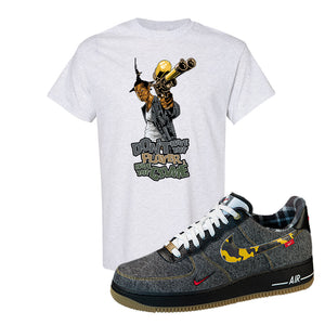 Air Force 1 Low Plaid And Camo Remix Pack T-Shirt | Dont Hate The Playa, Ash