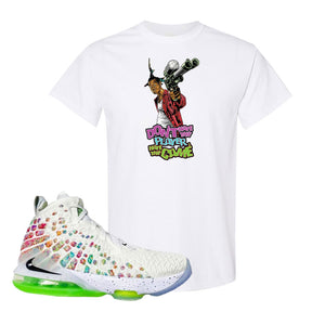 Lebron 17 Air Command Force T Shirt | White, Dont Hate The Player