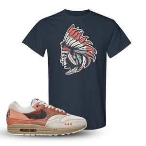 Air Max 1 Amsterdam City Pack Sneaker Dark Heather T Shirt | Tees to match Nike Air Max 1 Amsterdam City Pack Shoes | Indian Chief