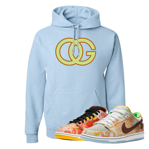 SB Dunk Low Street Hawker Hoodie | OG, Light Blue
