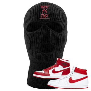 Jordan 1 New Beginnings Pack Sneaker Black Ski Mask | Winter Mask to match Nike Air Jordan 1 New Beginnings Pack Shoes | Them 1's Tho