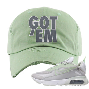 Air Max 2090 'Vast Gray' Distressed Dad Hat | Sage Green, Got Em