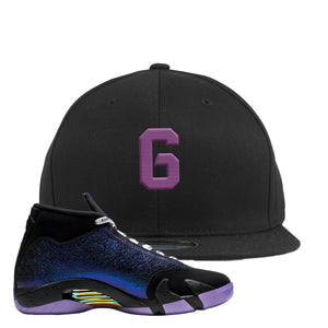 Jordan 14 Doernbecher Number 6 Black Sneaker Hook Up Snapback Hat