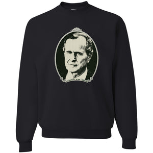Standard Issue George H.W. Bush Dollar Bill Black Grunt Life Crewneck Sweater