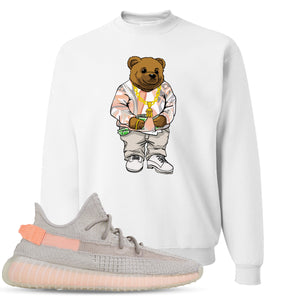 Yeezy Boost 350 True Form V2 Sneaker Hook Up Polo Sweater Bear White Crewneck Sweater